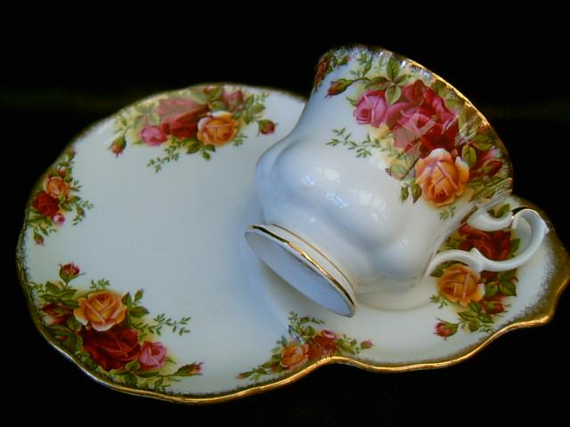 & Royal Albert snack/tennis set cup u0026 saucer/plate Old Country Roses