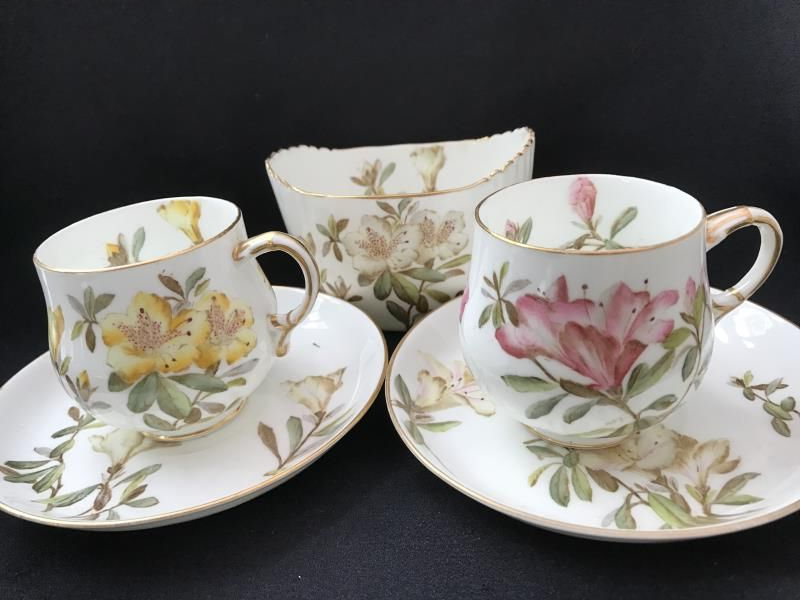 Crown Devon Fieldings Vintage Coffee Cups and Saucers x 2